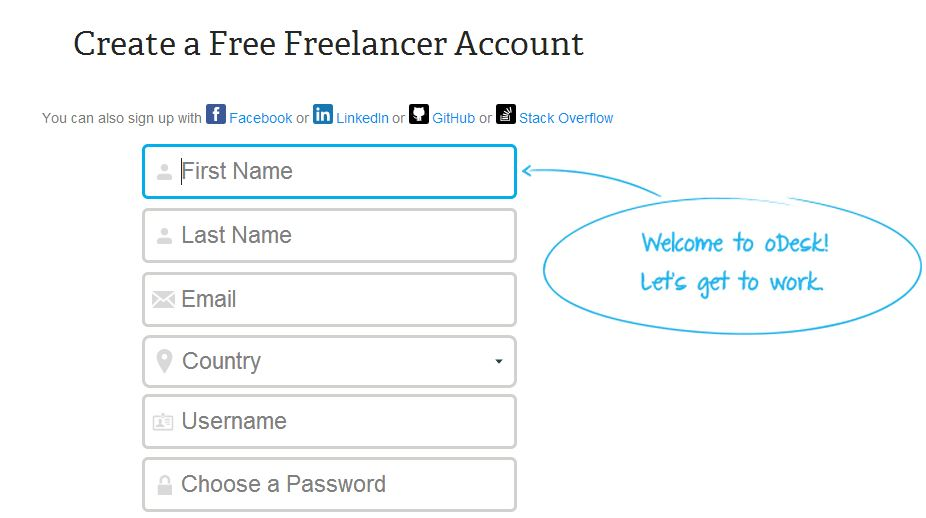odesk create account