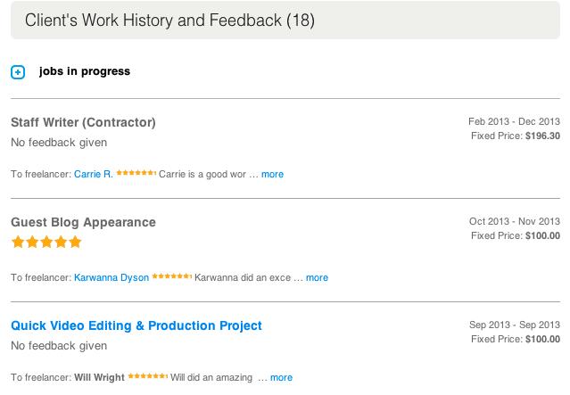 odesk company feedback 2
