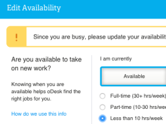 oDesk Freelancer Availability