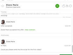 Upwork Messenger Offers Real Time Communication