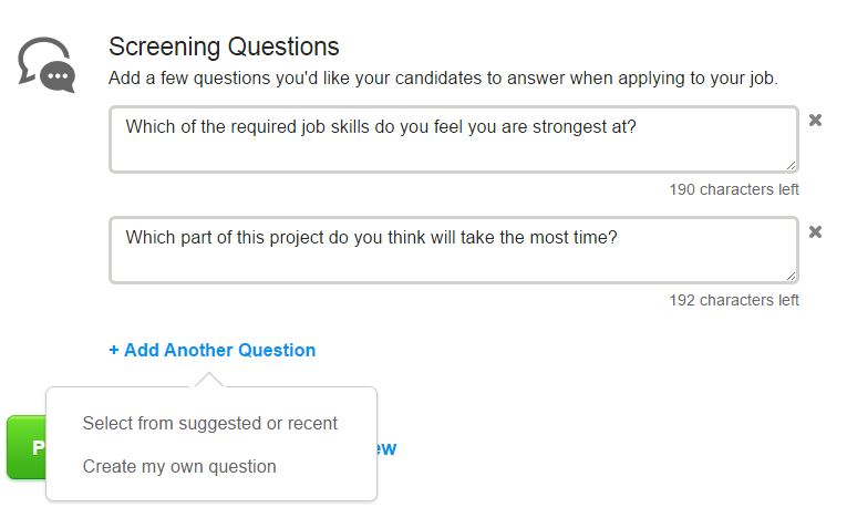 oDesk questions